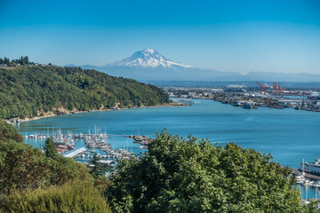 Acrylic Prints Olive Montain Over Tacoma 7