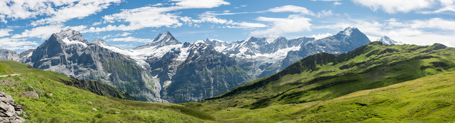 Bermese Alps near Grindelwald in Switzerland