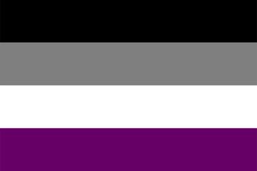 Vector Asexual Flag.