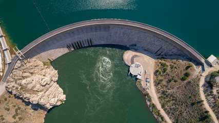 Arrow Rock Dam seen from above