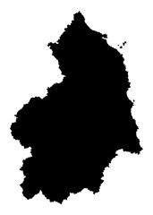 Northumberland vector silhouette map county in North East England. North umberland.
