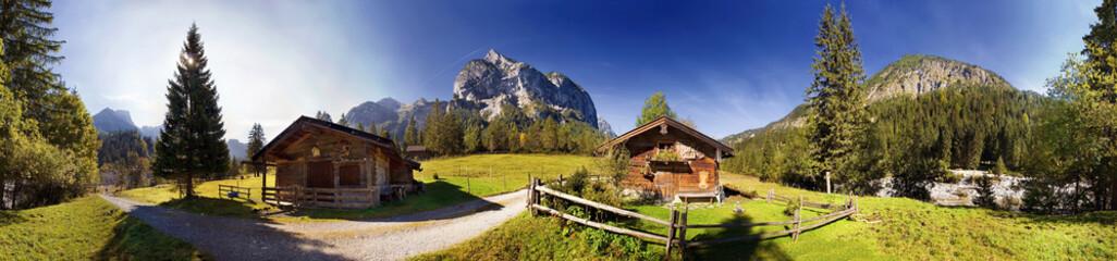 Hagelhütte im Karwendel Wall mural