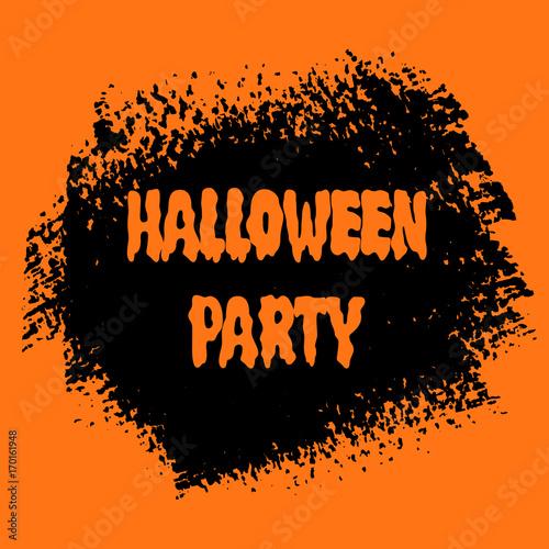 halloween party sign text over orange brush paint abstract rh eu fotolia com Halloween Vector Graphics Halloween Silhouette