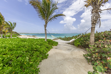 Scenery from Anguilla in Caribbean