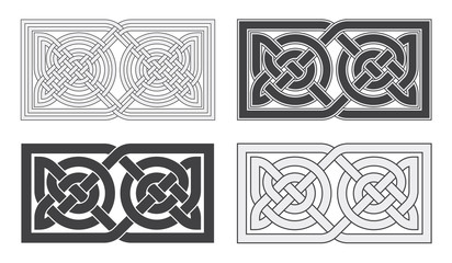 Vector celtic horizontal knot. Ethnic ornament