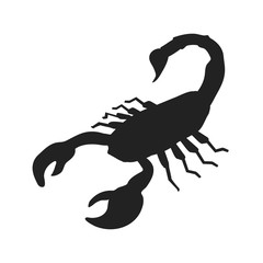 Scorpion icon, Scorpion silhouette isolated vector illustration.