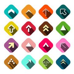 Arrows Set. Vector Flat Arrow Icons.