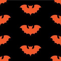 Halloween seamless pattern with black bat