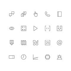 Simply web icon set