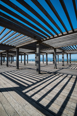 Pergola in Trabucador Beach,Spain