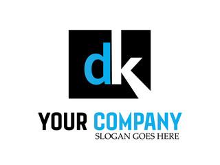 Logo dk letter design vector
