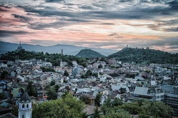 Sunset over Plovdiv Bulgaria Eutropean Capital of culture 2019