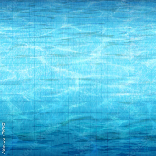 Seamless Underwater Texture On Blue Ceramic Tiles With Sunlight Riple Underwater Vector Backgroundhighresolution Seamless Texture Background