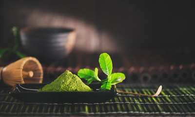 Matcha powder. Organic green matcha tea