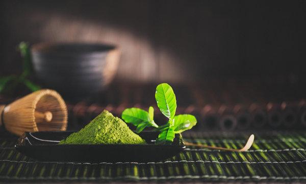 Matcha powder. Organic green matcha tea