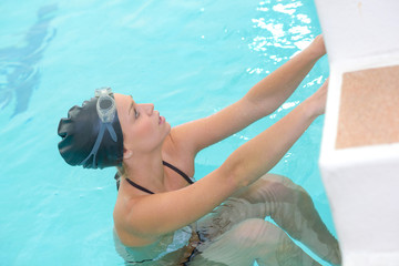 female swimmer at the swimming pool