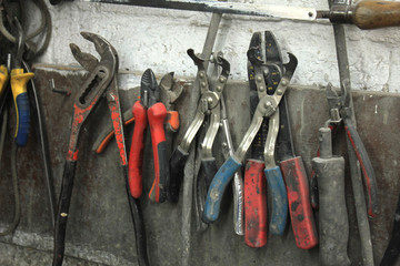 Tools in a repair shop