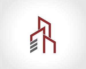 line building cityscape logo