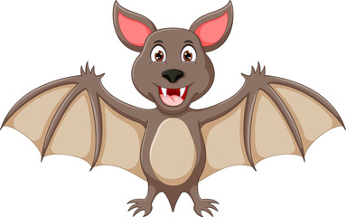 funny bat cartoon standing