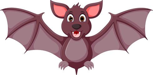 strong bat cartoon with posing