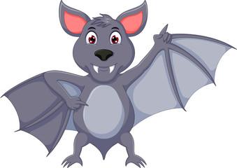 funny bat cartoon thumb up