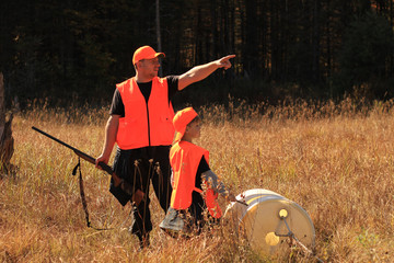 Papiers peints Chasse Father and son are hunting