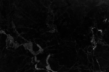 Textures natural black marble with beautiful patterns.