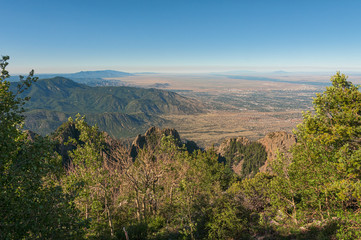 View from the Sandias