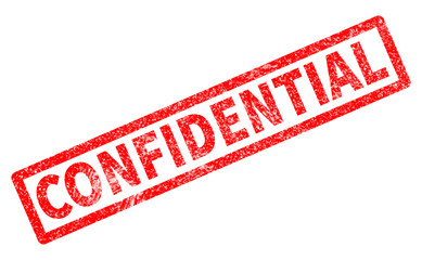 confidential red rubber stamp on white background. confidential sign.