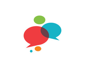Speech bubble icon Logo template vector illustration
