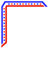 American flag frame corner pattern for flyers, brochure