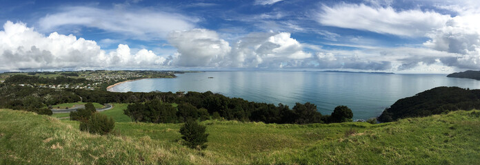 Landscape view of Coopers beach New Zealand