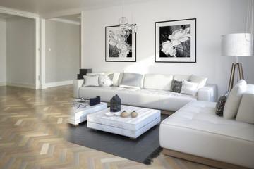 Raumgestaltung: Sitzgarnitur (Konzept)