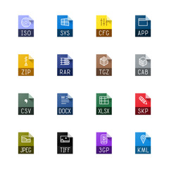 File type icons - Miscellaneous
