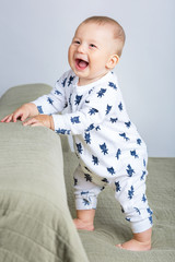 Portrait of a happy child. Cheerful baby