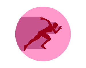 runner athlete sports silhouette icon vector