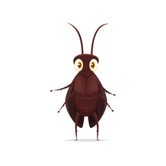Cartoon cockroach vector isolated illustration