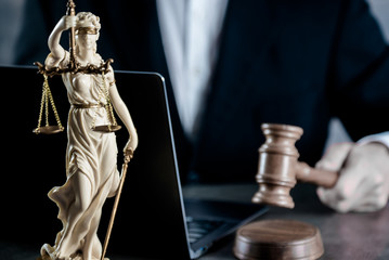 Justice and Law concept. Male lawyer in the office