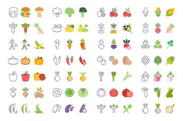 Set Vector Illustration of Vegetables