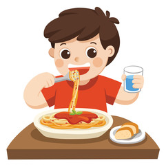 Cartoon Kids Eating Lunch photos, royalty-free images ...