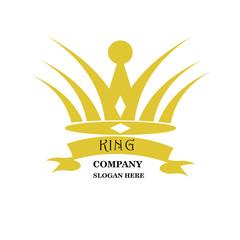 Abstract team company logo icon vector design. Elegant crown premium symbol. Unique partners logotype sign mark