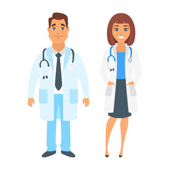 man and woman doctor.