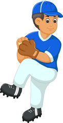 people play baseball with smile cartoon