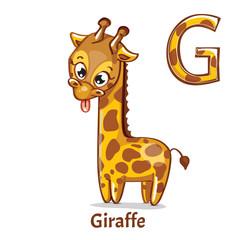 Vector alphabet letter G. Giraffe