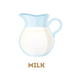 Isolated milk jug.