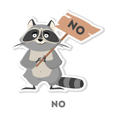 Isolated refusing raccoon.