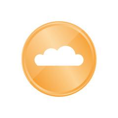 Bronze Münze - Wolke