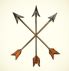 Arrows. Vector drawing