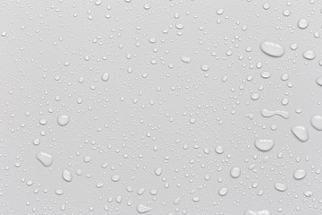 Water droplets on a gray background Wall mural