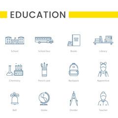 Outline icon - School education